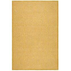 Safavieh Handmade Moroccan Cambridge Gold Wool Rug - 3' x 5' - Thumbnail 0