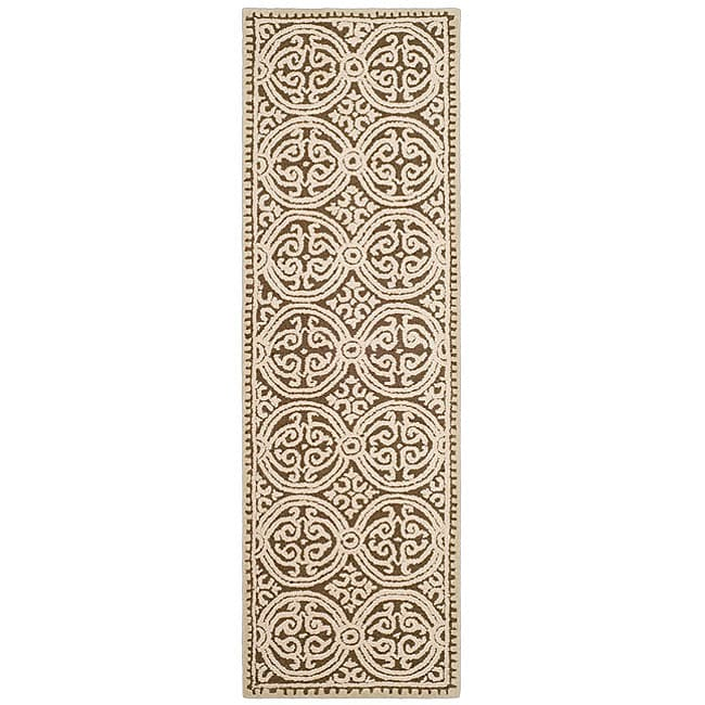 Safavieh Handmade Moroccan Cambridge Brown Wool Rug (2'6 x 6')