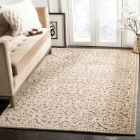 Safavieh Handmade Moroccan Cambridge Brown Wool Rug - 6' x 9'