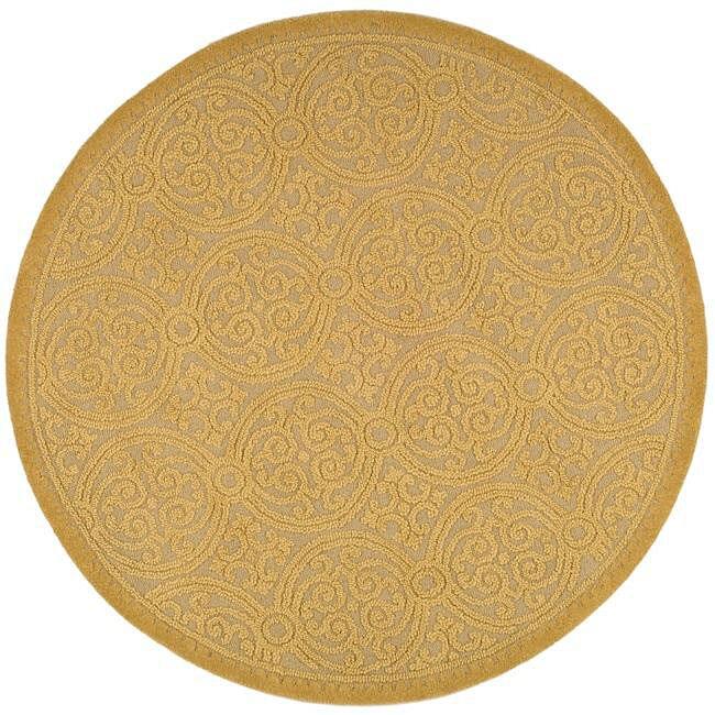 Safavieh Handmade Moroccan Cambridge Gold Wool Rug (6' Round)