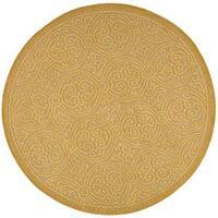 Safavieh Handmade Moroccan Cambridge Gold Wool Rug - 6' x 6' Round
