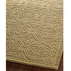 Safavieh Handmade Moroccan Cambridge Gold Wool Rug (8' x 10') - Thumbnail 1