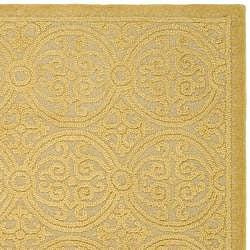 Safavieh Handmade Moroccan Cambridge Gold Wool Rug (8' x 10') - Thumbnail 2