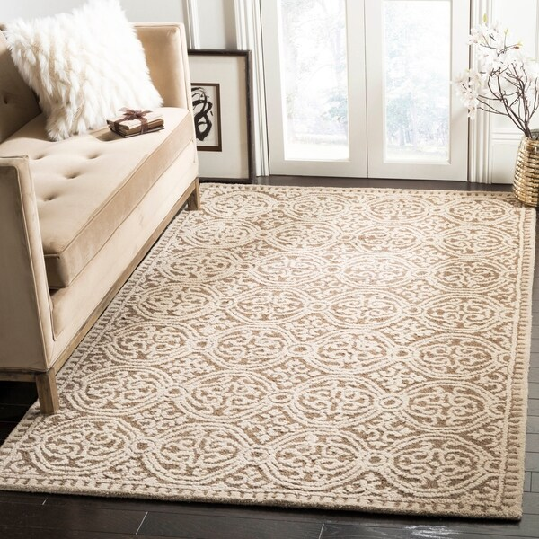 Safavieh Handmade Moroccan Cambridge Brown Wool Rug - 9' x 12'