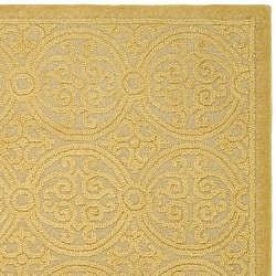 Safavieh Handmade Moroccan Cambridge Gold Wool Rug (6' x 9')