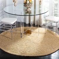 Safavieh Handmade Moroccan Cambridge Gold Wool Rug - 8' x 8' Round