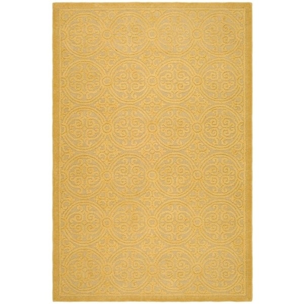 Safavieh Handmade Moroccan Cambridge Gold Wool Rug - 9' x 12'