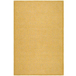 Safavieh Handmade Moroccan Cambridge Gold Wool Rug - 9' x 12' - Thumbnail 0