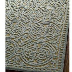 Safavieh Handmade Moroccan Cambridge Blue Wool Rug (6' x 9')