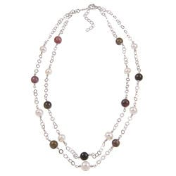 Kabella Sterling Silver Tourmaline and Freshwater Pearl Necklace (7-8 mm)|https://ak1.ostkcdn.com/images/products/5151741/Kabella-Sterling-Silver-Tourmaline-and-Freshwater-Pearl-Necklace-7-8-mm-P12994527a.jpg?impolicy=medium