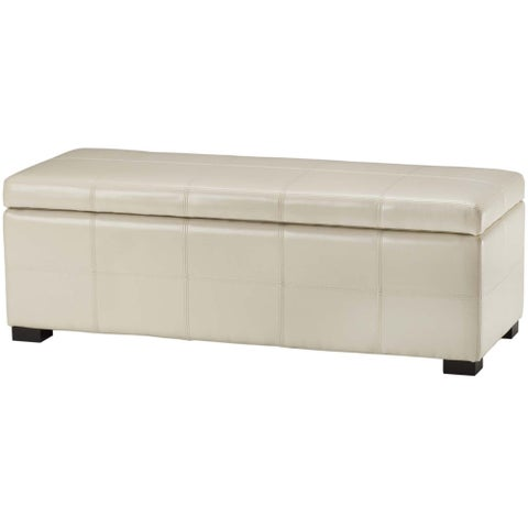 Safavieh Madison Cream Bicast Leather Storage Bench