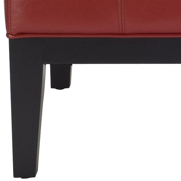 Delightful Safavieh Fulton Storage Red Bicast Leather Square Ottoman   Free Shipping  Today   Overstock.com   12994636