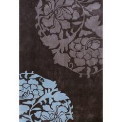 nuLOOM Handmade Pino Rose Fantasy Brown Rug (5' x 8') - Thumbnail 0