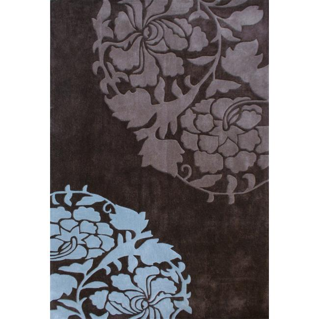 nuLOOM Handmade Pino Rose Fantasy Brown Rug (7'6 x 9'6)