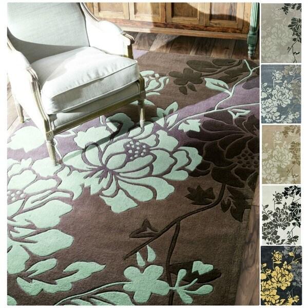 nuLOOM Handmade Pino Yarrow Floral Rug (7'6 x 9'6)