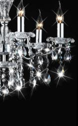 Indoor 6-light Chrome/ Crystal Candle Light Chandelier - Thumbnail 1