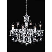 Silver Orchid Taylor Indoor 6-light Chrome/ Crystal Candle Light Chandelier