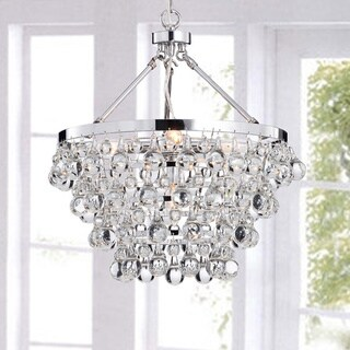 Silver Orchid Taylor Indoor 5-light Luxury Crystal Chandelier