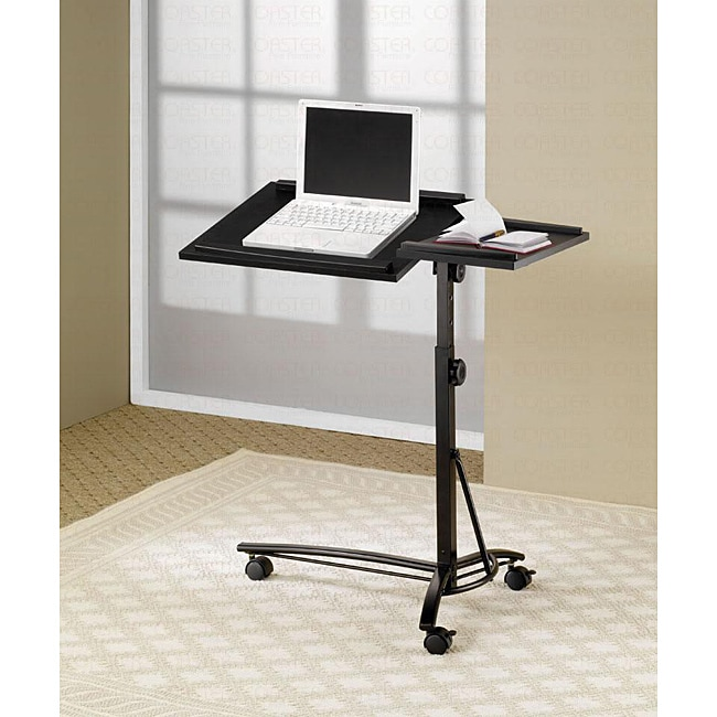 Adjustable Ergonomic Black Finish Laptop Desk Table Stand