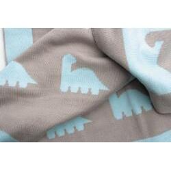 OiOi Weegoamigo Dino Herd Cotton Baby Blanket