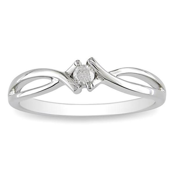 Miadora 10k Gold 1/10ct TDW Diamond Promise Ring (H-I, I2-I3)