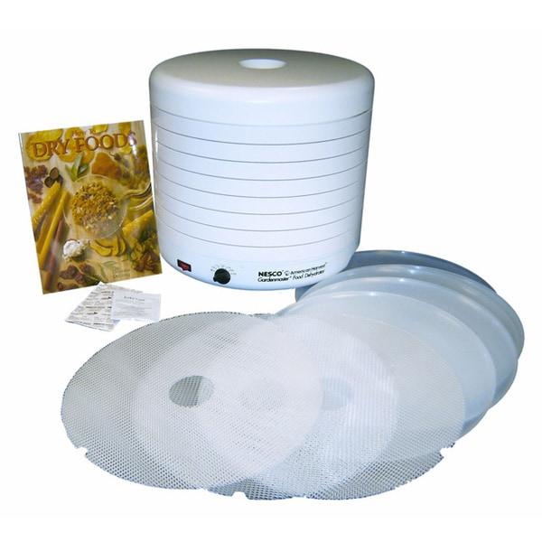 Nesco American Harvest FD-1018P White 1000-watt Food Dehydrator Kit