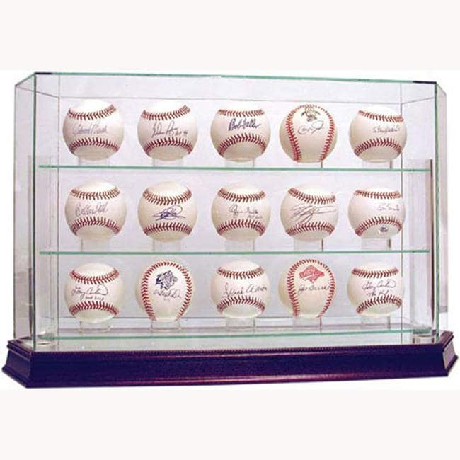 Steiner Sports Glass 15-ball Baseball Case - Thumbnail 0