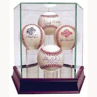 Steiner Sports Handmade Glass Quad Baseball Case with UV Protection
