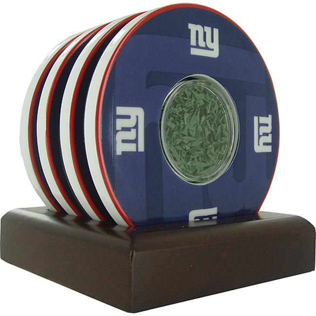 Steiner Sports Giants Logo Coasters w/ NY Giants Logo and Backdrop