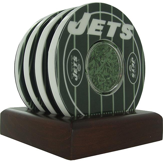 Steiner Sports New York Jets Logo Coasters w/ Yard Markers