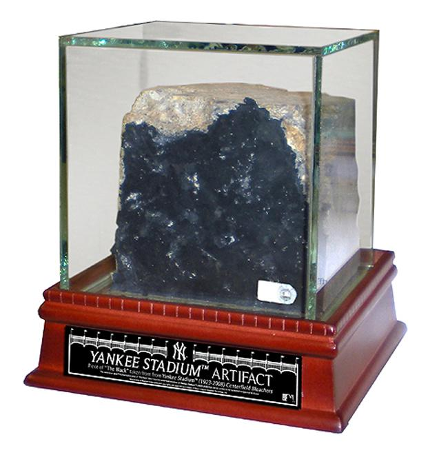 Steiner Sports Yankee Stadium Authentic Piece of 'Black' w/ Glass Display Case - Thumbnail 0