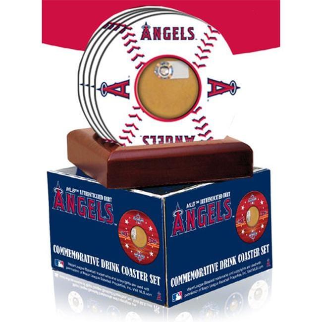 Steiner Sports Los Angeles Angels of Anaheim Coasters w/Game Field Dirt (Set of 4)