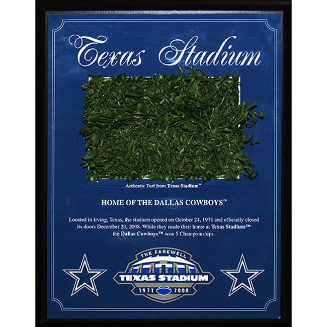 Steiner Sports Texas Stadium Game Used Turf Plaque (1996-2008)