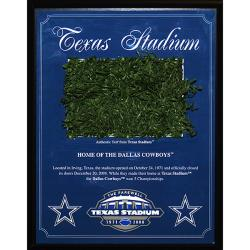 Steiner Sports Texas Stadium Game Used Turf Plaque (1996-2008) - Thumbnail 0