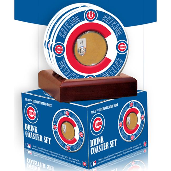 Steiner Sports Chicago Cubs Coasters w/ Game Field Dirt (Set of 4) - Thumbnail 0