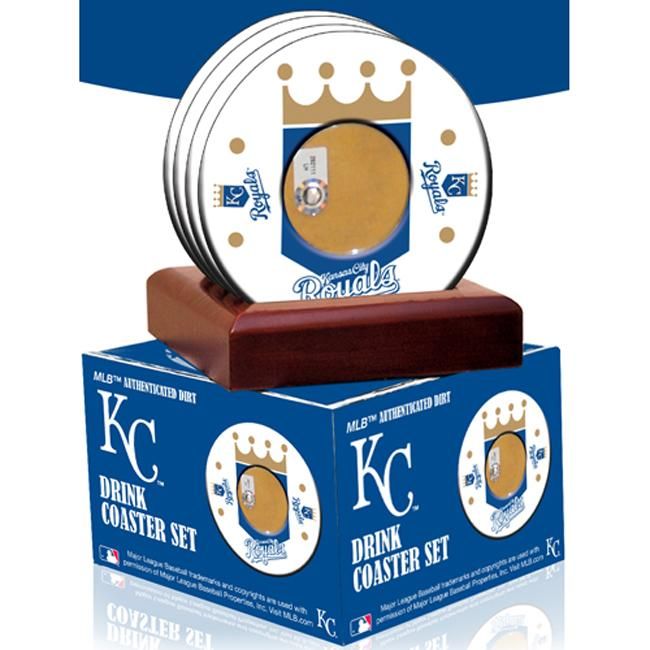 Steiner Sports Kansas City Royals Coasters w/ Game Field Dirt (Set of 4)