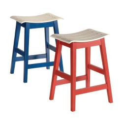 Two-tone Counter Height Barstools (Set of 2)