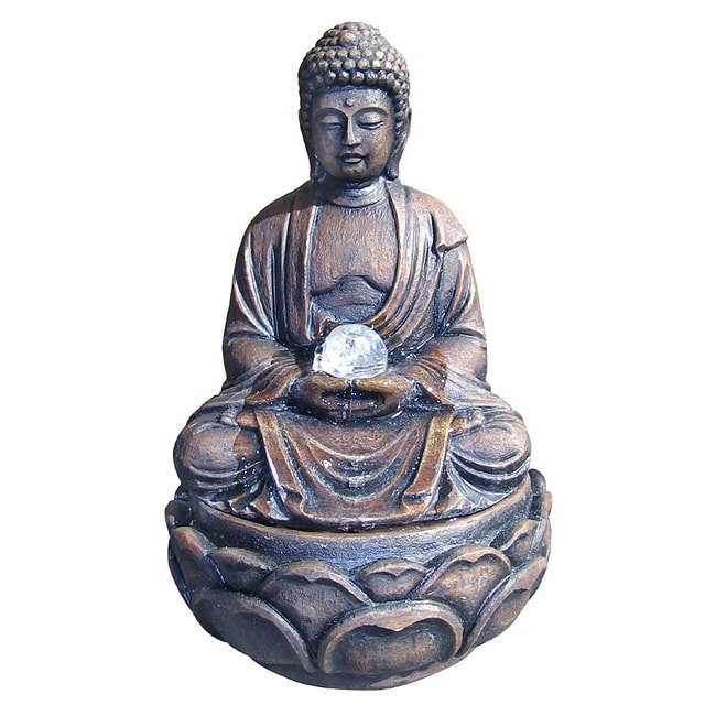 Ore International Buddha Indoor Fountain (12 inch) (Polyr...