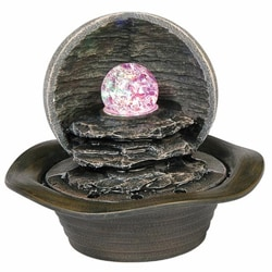 Ore International Indoor Grey Table Fountain
