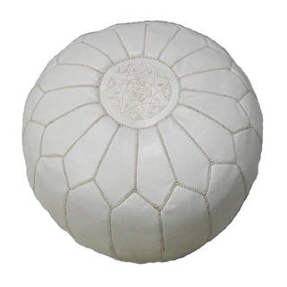 Link to Handmade Contemporary Handmade Imported Genuine-leather Ottoman Pouf (Morocco) Similar Items in Ottomans & Storage Ottomans