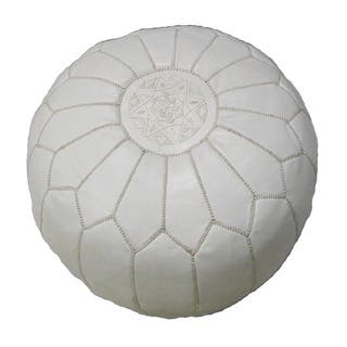 Handmade Contemporary Handmade Imported Genuine-leather Ottoman Pouf (Morocco)|https://ak1.ostkcdn.com/images/products/5155741/P12997600.jpg?impolicy=medium