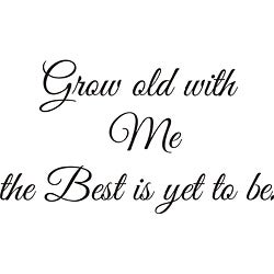 Design on Style 'Grow Old with Me' Vinyl Wall Art Quote
