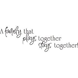 Design on Style 'A Family That Plays Together' Vinyl Wall Art Quote