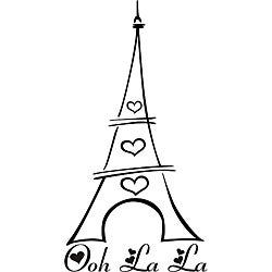 Design on Style 'Ooh La La Eiffel Tower' Vinyl Wall Art Quote