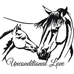 Design on Style 'Horses Unconditional Love' Vinyl Wall Art Quote
