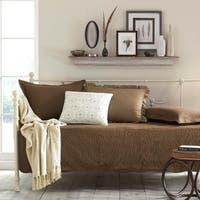 Trellis Chocolate 100-percent Cotton 5-piece Daybed Bedding Set