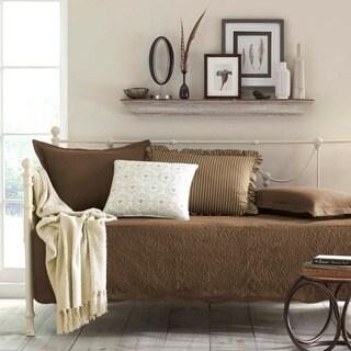 Trellis Chocolate 100-percent Cotton 5-piece Daybed Bedding Set