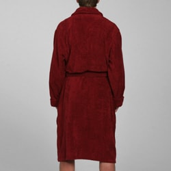 Alexander Del Rossa Men's Terry Cotton Bath Robe - Thumbnail 1