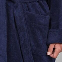 Alexander Del Rossa Men's Terry Cotton Hooded Bath Robe - Thumbnail 2