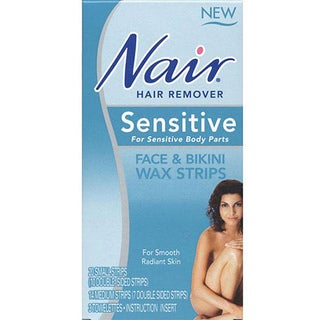 Nair Sensitive Formula Face/ Bikini Wax Strips (Pack of 2)